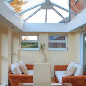 Orangery extension with lantern roof