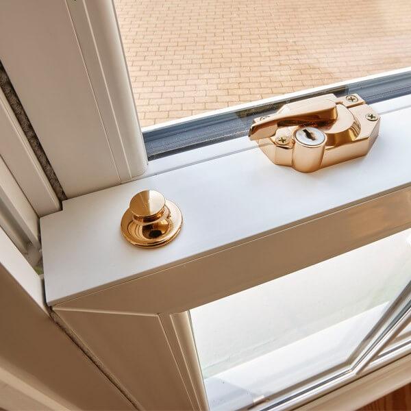 uPVC sash windows with secure lock