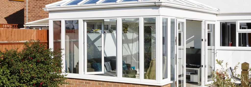 White tilt and turn windows in uPVC