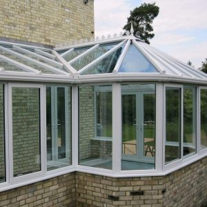uPVC conservatory in p-shape style