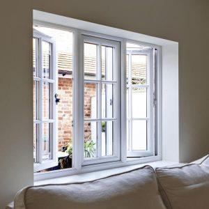 Double glazed energy efficient windows with georgian bars