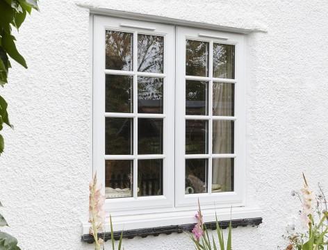 Double glazed windows in uPVC