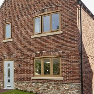 Oak Effect Flush Windows